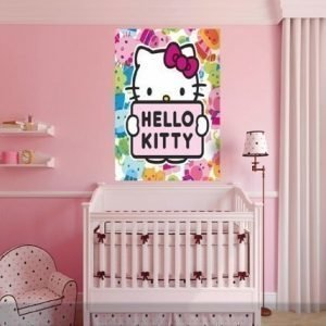 Ag Design Fleece Kuvatapetti Hello Kitty 180x202 Cm
