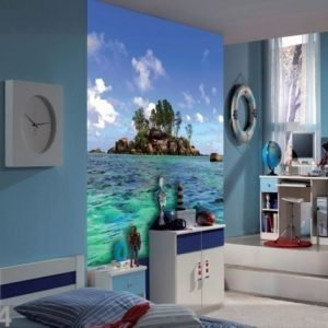 Ag Design Fleece Kuvatapetti Island 180x202 Cm