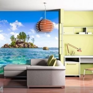 Ag Design Fleece Kuvatapetti Island In The Sea 360x270 Cm