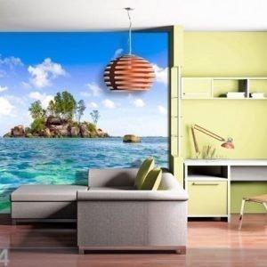 Ag Design Fleece Kuvatapetti Island In The Sea 360x270 Cm