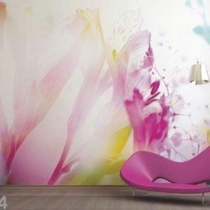 Ag Design Fleece-Kuvatapetti Light Flowers 360x270 Cm