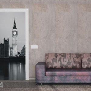 Ag Design Fleece Kuvatapetti London Big Ben 90x202 Cm