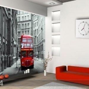 Ag Design Fleece Kuvatapetti London Bus 360x270 Cm