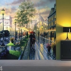 Ag Design Fleece Kuvatapetti Magical Paris 360x270 Cm