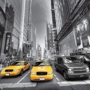 Ag Design Fleece Kuvatapetti Manhattan Cars 360x270 Cm