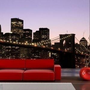 Ag Design Fleece Kuvatapetti Manhattan Night 360x270 Cm