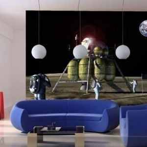 Ag Design Fleece-Kuvatapetti Moon Landing 360x270 Cm