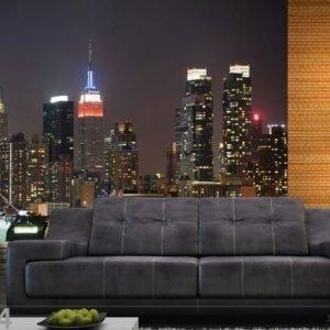 Ag Design Fleece Kuvatapetti Night City 360x270 Cm