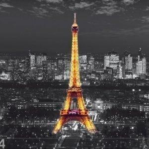 Ag Design Fleece Kuvatapetti Night In Paris 360x270 Cm