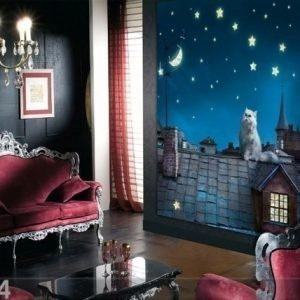 Ag Design Fleece Kuvatapetti Night Life 180x202 Cm