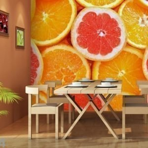 Ag Design Fleece-Kuvatapetti Oranges 360x270 Cm
