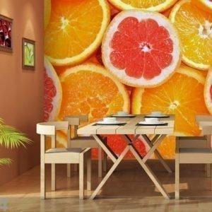 Ag Design Fleece-Kuvatapetti Oranges 360x270 Cm