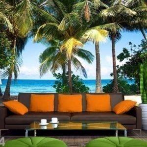Ag Design Fleece Kuvatapetti Palm Trees 360x270 Cm