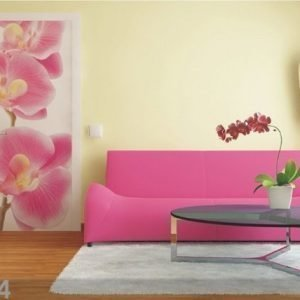 Ag Design Fleece Kuvatapetti Pink Orchids 90x202 Cm