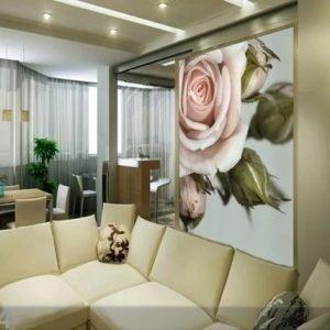 Ag Design Fleece Kuvatapetti Rose With Buds 180x202 Cm
