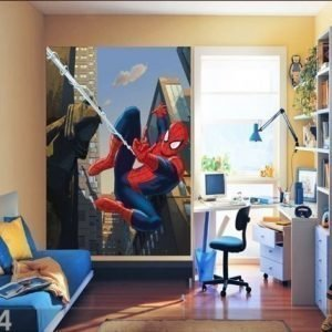 Ag Design Fleece Kuvatapetti Spiderman 180x202 Cm