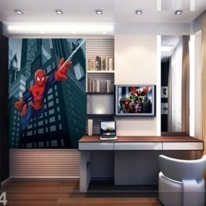 Ag Design Fleece Kuvatapetti Spiderman'S Spider Web 180x202 Cm