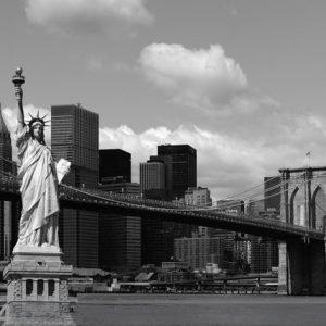 Ag Design Fleece Kuvatapetti Statue Of Liberty 360x270 Cm
