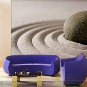 Ag Design Fleece-Kuvatapetti Stone In The Sand 360x270 Cm