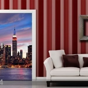 Ag Design Fleece Kuvatapetti Sunset In New York 90x202 Cm