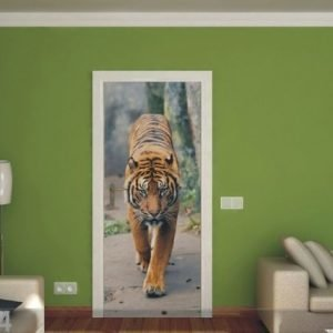 Ag Design Fleece Kuvatapetti Tiger 90x202 Cm