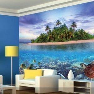 Ag Design Fleece Kuvatapetti Tropical Island 360x270 Cm
