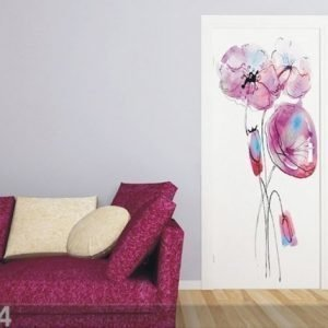 Ag Design Fleece Kuvatapetti Watercolor Poppies 90x202 Cm