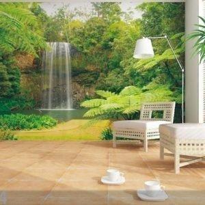 Ag Design Fleece-Kuvatapetti Waterfall 360x270 Cm