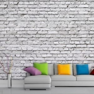 Ag Design Fleece-Kuvatapetti White Brick 360x270 Cm