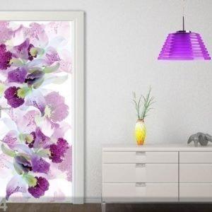 Ag Design Fleece Kuvatapetti White Flowers 90x202 Cm