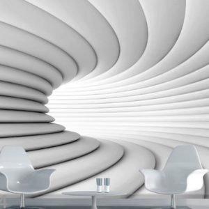 Ag Design Fleece-Kuvatapetti White Tunnel 360x270 Cm