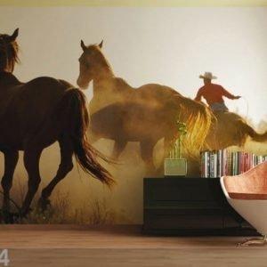 Ag Design Fleece-Kuvatapetti Wild West 360x270 Cm