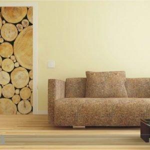 Ag Design Fleece Kuvatapetti Wood 90x202 Cm
