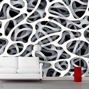Ag Design Fleece-Kuvatapettii Makram 360x270 Cm