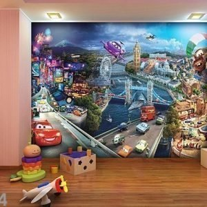 Ag Design Kuvatapetti Disney Cars 2 Mix 360x254 Cm
