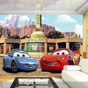 Ag Design Kuvatapetti Disney Mcqueen And Sally 360x254 Cm