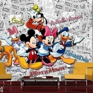 Ag Design Kuvatapetti Disney Mickey Comic Books 360x254 Cm