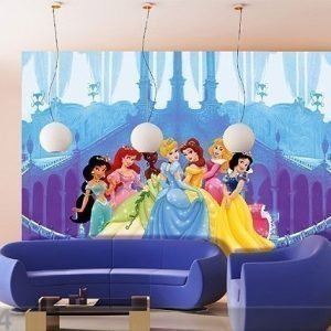 Ag Design Kuvatapetti Disney Princesses And The Castle 360x254 Cm