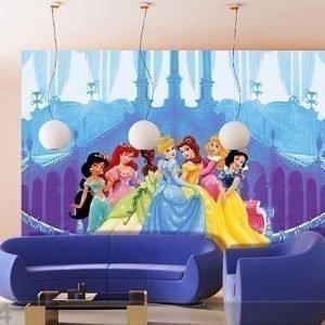 Ag Design Kuvatapetti Disney Princesses And The Castle 360x254 Cm