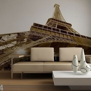 Ag Design Kuvatapetti Eiffel Tower Black And White 360x254 Cm