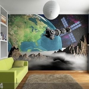 Ag Design Kuvatapetti View Of The Earth From Space 360x254 Cm