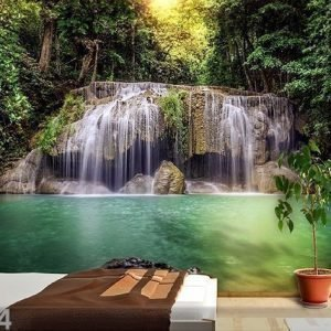 Ag Design Kuvatapetti Waterfall In The Tropics 360x254 Cm