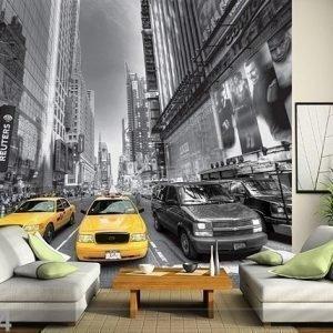 Ag Design Kuvatapetti Yellow Taxi 360x254 Cm