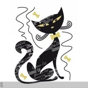 Ag Design Seinätarra Black Cat 65x85 Cm