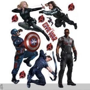 Ag Design Seinätarra Captain America 65x85 Cm