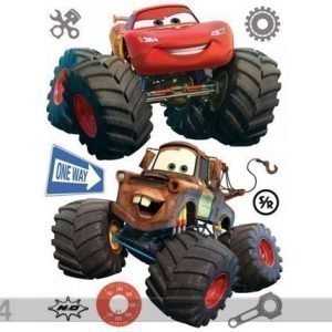 Ag Design Seinätarra Disney Car With Big Wheels 65x85 Cm