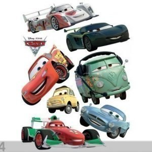 Ag Design Seinätarra Disney Cars 2 Mcqueen And Francesco Bernoulli 65x85 Cm