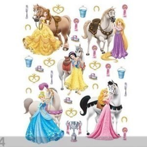 Ag Design Seinätarra Disney Princesses And Horses 65x85 Cm