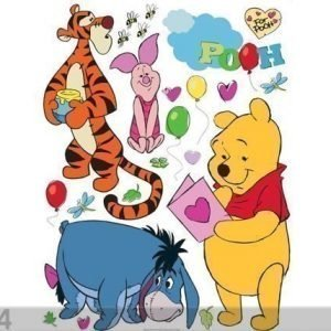 Ag Design Seinätarra Disney Winnie The Pooh And Friends 65x85 Cm