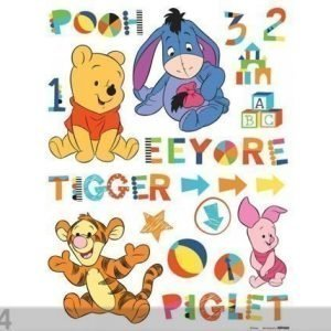 Ag Design Seinätarra Disney Winnie The Pooh And Friends 65x85 Cm